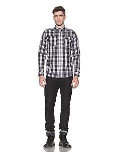 Comune Men's Carter Plaid Shirt (Black)