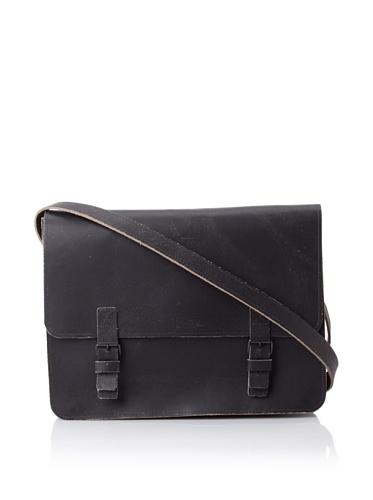Sweet Bella Leather Satchel, Dark Brown