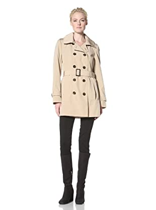 Calvin Klein Women's Double-Breasted Trench (Khaki)