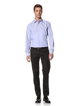 Valentino Men's Dress Shirt (Blue/White Stripe)