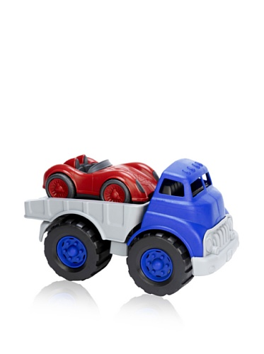 Green Toys Flatbed Truck and Race Car