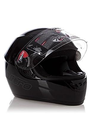 Nitro Casco Dynamo Uno (Negro Brillo)