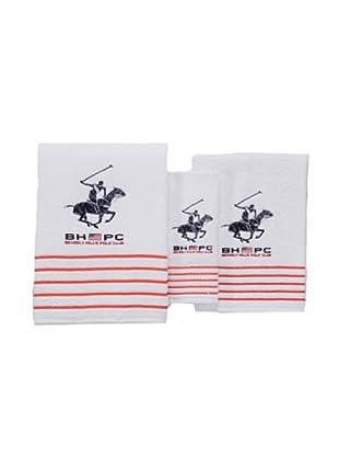 Beverly Hills Polo Club Juego de Toallas California (Blanco)
