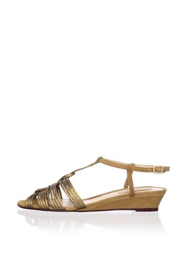 Schutz Women's Demi Wedge Sandal (Bronze/Biscuit)