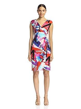 London Times Women's Ruched Sheath Dress