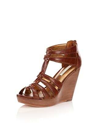 Cynthia Vincent Women's Jackson Wedge Sandal (Cognac)