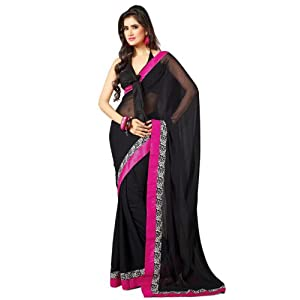 Bollywood replica of Deepika Padukone black saree