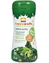 Happy Baby Organic Puffs Case Of 6 Greens By Happybaby