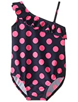 Osh Kosh Baby Girls' Pink Dot 1 Piece, Navy, 12 Months