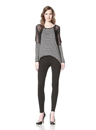 La Fée Verte Women's Stripe Cashmere (Black)