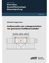 Grossversuche zum Leckageverhalten von gerissenen Stahlbetonwaenden: Volume 72 (Karlsruher Reihe Massivbau, Baustofftechnologie, Materialprüfung / ... und Forschungsanstalt Karlsruhe)
