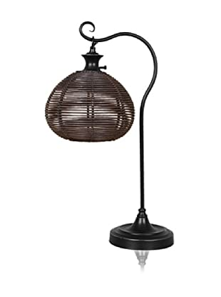 Dennis East Rattan Ball Table Lamp
