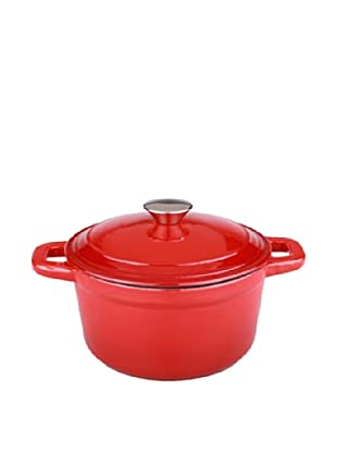 BergHOFF Neo 7Qt Cast Iron Round Covered Dutch Oven, Red