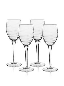 Luigi Bormioli Set of 4 Romantica 9.5-Oz. Wine Stem Glasses