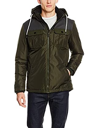 JACK & JONES Herren Jacke Jcoflicker Jacket Block, Blau (Navy Blazer Fit:Reg), Large