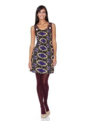 Peace & Love Vestido Estampado (púrpura)