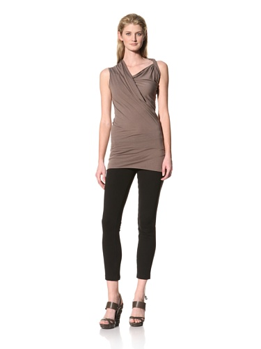 RICK OWENS Women's Twist Shoulder Sleeveless Top (Dust)