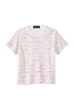 A for Apple Hay T-Shirt with A For Apple Script (White)