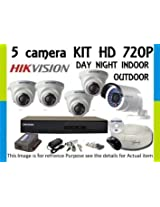 Hikvision TURBO 8 Channel DVR & (3+2) CCTV Camera Kit