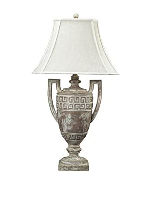 Artistic Lighting Traditional Greek Key Table Lamp, Aged Brown