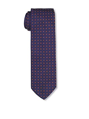 Desanto Men's Olimpia Squares Tie, Navy/Orange