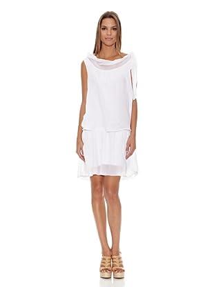 Assuili Vestido Chale (Blanco)