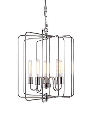 Urban Lights Lewis 5-Light Pendant Lamp, Polished Nickel