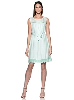 Crema Vestido Charleston (Verde Agua)