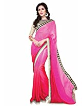 Shoppingover festival partywear saree in Pink color