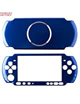 Xfuny Case For Psp 3000, Aluminum Hard Protective Case Cover Shell Guard Protector Faceplate Decal Mod For Sony Psp 3000 Console Dark Blue