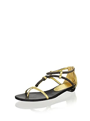 Lola Cruz Women's Flat Sandal (Negro)