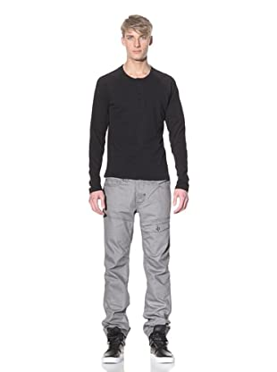 i.am Men's Long Sleeve Henley (Black)