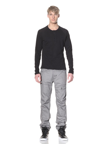i.am Men's Long Sleeve Henley (Black)