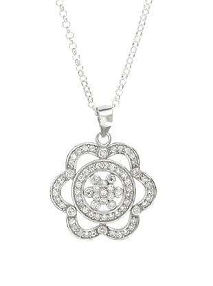 My Silver Collar Medalla de la Suerte de Circonitas