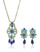 Blue Pendant Set NIKI Jewels