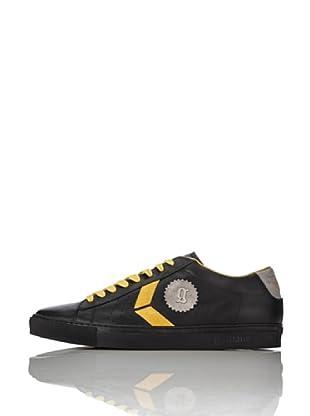 Galliano Zapatillas Zip (Negro / Amarillo)