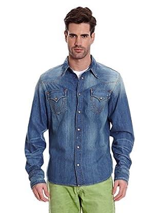 True Religion Camisa Vaquera (Azul)