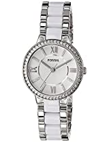 Fossil Virginia Analog Silver Dial Women's Watch - ES3560I