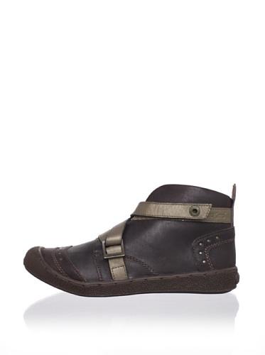 Kickers Kid's Singing Casual Ankle Boot (Toddler/Little Kid) (Dark Brown)