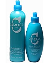 Tigi Catwalk Curls Rock Curly Hair Shampoo And Conditioner Duo, 12 Ounce/8.5 Ounce
