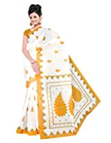 Gugaliya Embellished Fashionably FANTASTIC Mustard color POLYCOTTON saree (sac10)