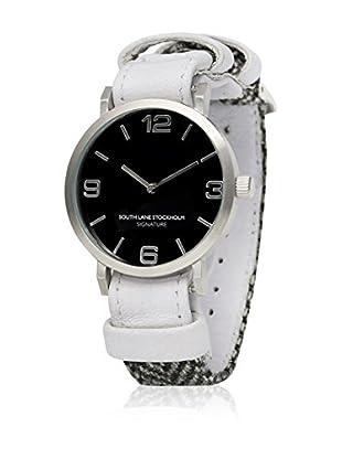 South Lane Reloj de cuarzo Unisex South Lane Signature Collaboration White Leather and Herringbone wool 40 mm
