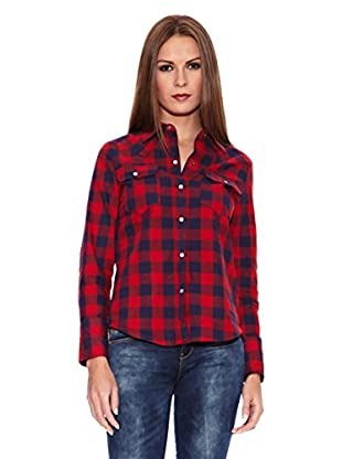 Riverside Camisa Mujer Claudia (Rojo / Azul Marino)