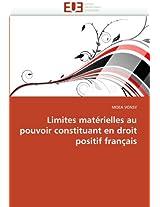 Limites Materielles Au Pouvoir Constituant En Droit Positif Francais (Omn.Univ.Europ.)