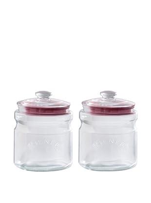 Kilner Set of 2 Push Top 2 Liter/67 fl oz. Storage Jars