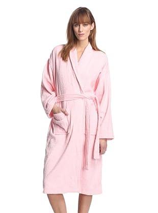 Aegean Apparel Women's Long Terry Loop Robe (Light Pink)
