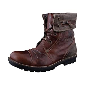 Woodland Nubuck Leather Men's Brown Boots