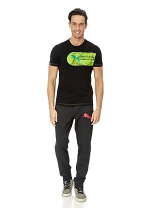 Puma T-Shirt Large Logo Graphic (black-greenery)