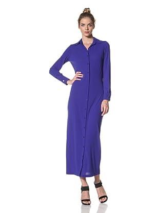 Norma Kamali Women's Maxi Shirt Dress (Cobalt)