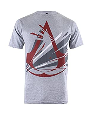 ICONIC COLLECTION - ASSASSINS CREED Camiseta Manga Corta Frac Logo Gris Claro L